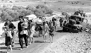 Palestinain refugees driven out of Galilee